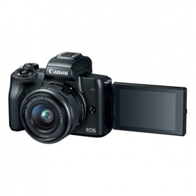 Aparat Foto Mirrorless Canon EOS M50, Negru cu Obiectiv EF-M 15-45mm IS STM