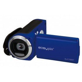 Camera Video Compacta EasyPix DVC5227 Flash, Video HD, Albastru + Bonus: SD 4GB