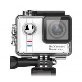 Camera Video de Actiune GoXtreme STAGE 2.5K, 16MPx, Inregistrare Sunet Stereo (Include 8 Accesorii)
