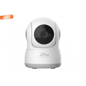 Camera IP Media-Tech Cloud Securecam HD 720p pentru utilizare la Interior, WiFi, Supravechere Video si Audio de pe Mobil si PC, Slot pentru microSD, Detectare Miscare, 4 LED-uri pentru Vedere de Noapte
