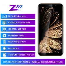 "Telefon Mobil Leagoo Z10, 5"", 8GB, Android GO, Auriu +Husa si Folie"