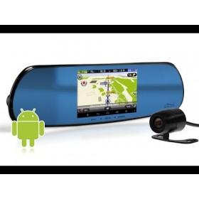 Camera Auto Media-Tech Tip Oglinda Retrovizoare U-Drive Navigation cu Navigatie GPS, Camera frontala Full HD, Camera de marsarier HD,  Compresie MJPEG, Tuner radio incorporat, Display multi touch 5 inch, Android 4.4