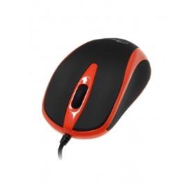 Mouse Optic Media-Tech 3 Butoane, Scroll, 800 dpi, USB, Rosu
