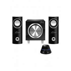 Sistem Audio 2.1 Media-Tech Woofer in Incinta din Lemn, Telecomanda pe Fir cu Control Volum, 21W RMS