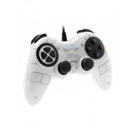 Gamepad Media-Tech CORSAIR II, Digital/Analog pentru PC si PS3, cu Vibratii, Alb