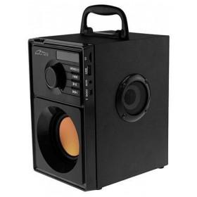 Sistem Audio Media-Tech Boombox BT, 15W RMS, cu Subwoofer si 2 Difuzoare, Incinta in Lemn, Port USB, Negru