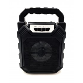 Boxa Portabila Media-Tech PLAYBOX SHAKE BT, 5W RMS, Port USB, Radio FM, MP3 Player, Negru