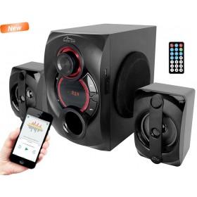 Sistem Audio 2.1 Bluetooth Media-Tech Voltron 2.1 BT, 35W RMS, Port USB, Negru