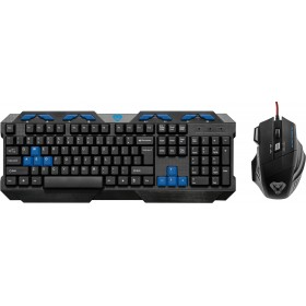 Kit Tastatura si Mouse Gaming Media-Tech Cobra Pro, 104 Taste, 8 Taste Multimedia, Taste WASD Customizate (Albastru), USB, Negru