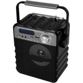 Boxa Portabila Media-Tech Partybox Compact, Radio FM, MP3 Player, 7W RMS, USB + SD, Antena, Difuzor cu Iluminare, Telecomanda, Negru