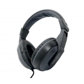 Casti cu Microfon Media-Tech PAVO Stereo, Buton On/Off pentru preluare sau respingere apel telefonic, Microfon pe fir, Negru