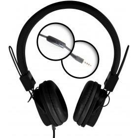 Casti cu Microfon Media-Tech PICTOR Mobile, Stereo, Difuzoare 40 mm, Pliabile, Microfon pe Fir, Negru