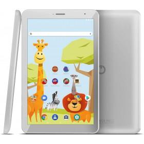 "Tableta Odys Junior 8 PRO, 8"" IPS HD, 4Core 1.3 GHz, 2GB + 16GB, Android 8.1,Alb, Include Husa Silicon"