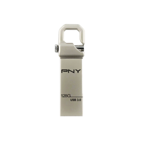 PNY Flash USB 3.0 Hook Attache 128GB, Constructie Metal