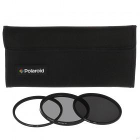 Set 3 Filtre Polaroid (UV, CPL, ND) 77mm, include Husa