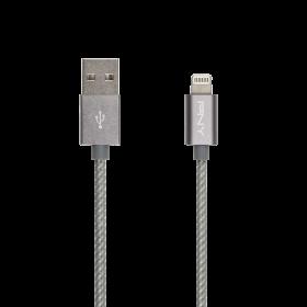 Cablu PNY Lightning 1.2m, Gri, Impletit