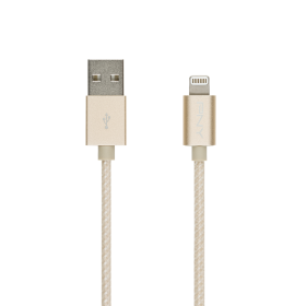 Cablu PNY Lightning 1.2m, Auriu, Impletit