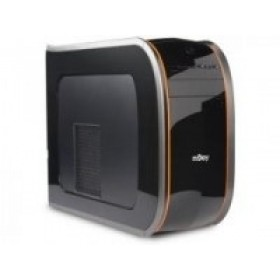 Njoy Onyx MiniTower ATX, fara Sursa, Panou frontal: 2*USB 2.0 1*intrare microfon 1*iesire audio Cititor de carduri, Negru lucios