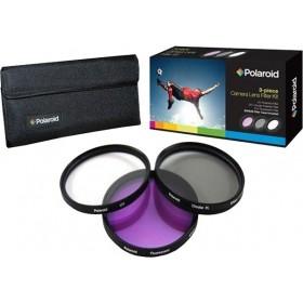 Set 3 Filtre Polaroid (UV, CPL, FLD) 86mm, include Husa