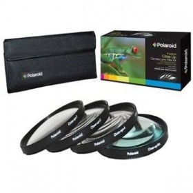 Set 4 filtre Macro Polaroid (+1,+2,+4,+10) 62mm, include Husa protectie